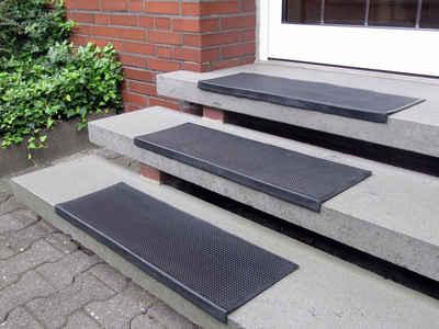 Stufenmatte »Gummi«, Andiamo, rechteckig, Höhe 7 mm, Gummi-Stufenmatten, Treppen-Stufenmatten, In- und Outdoor geeignet, 5 Stück in einem Set