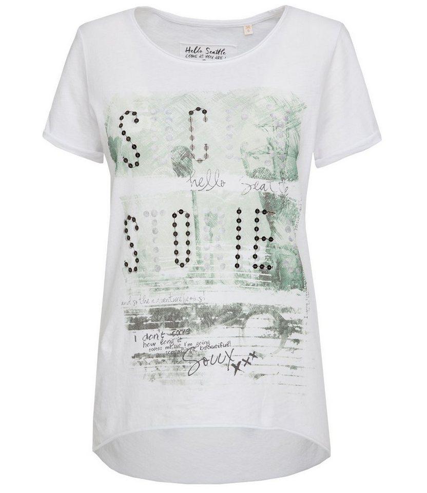 SOCCX T-Shirt in weiß