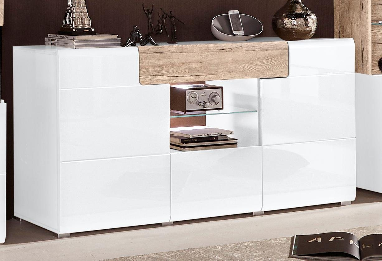 hochglanz sideboard creme preisvergleiche. Black Bedroom Furniture Sets. Home Design Ideas