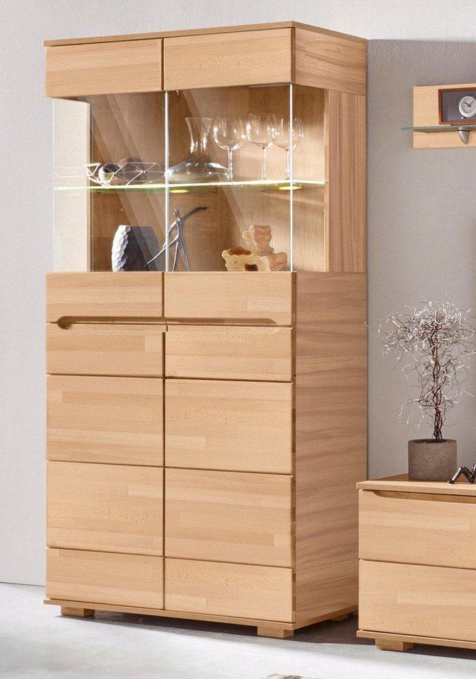 vitrine h he 190 cm 4 t ren online kaufen otto. Black Bedroom Furniture Sets. Home Design Ideas