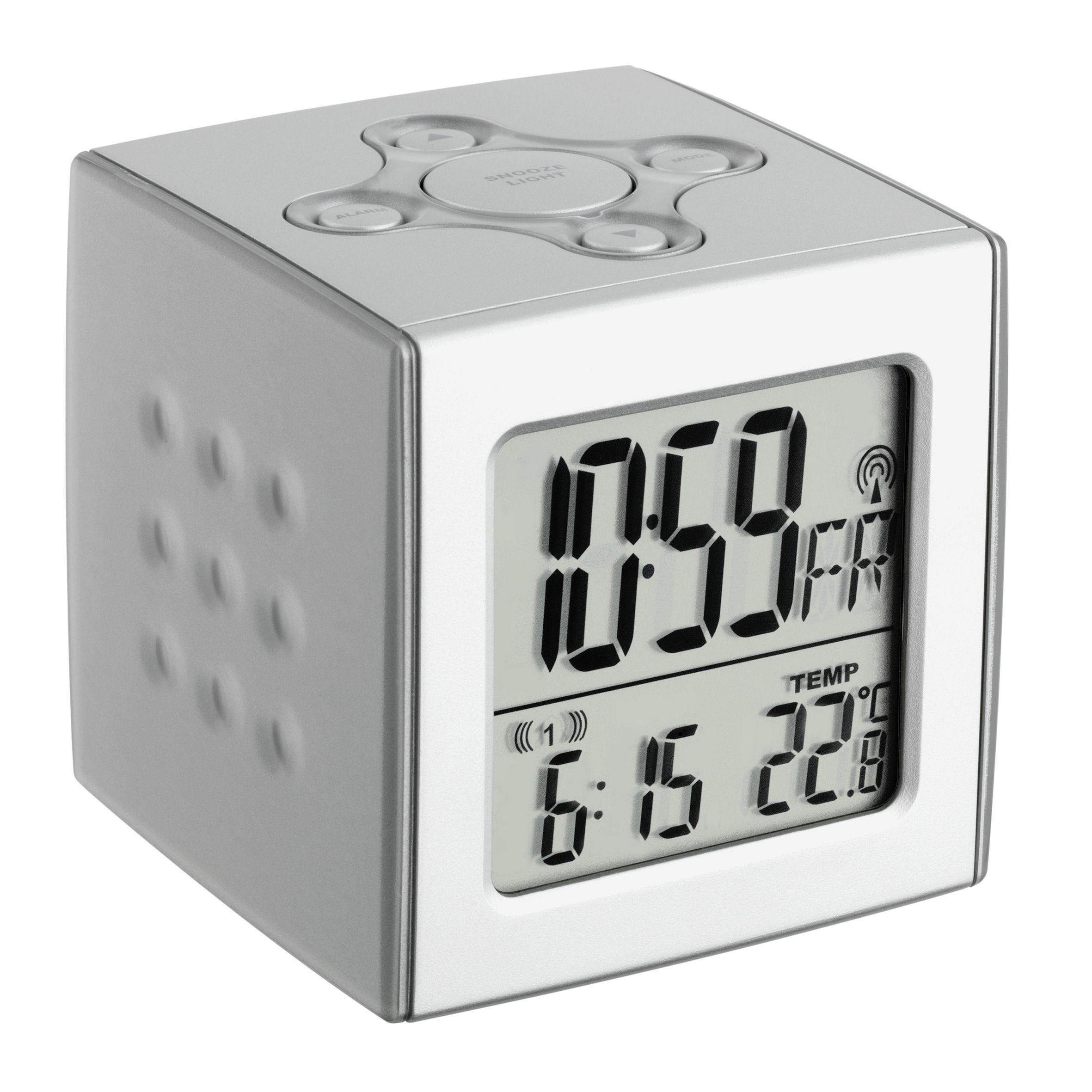 TFA Dostmann Funk-Wecker im Cube-Design »CUBO«