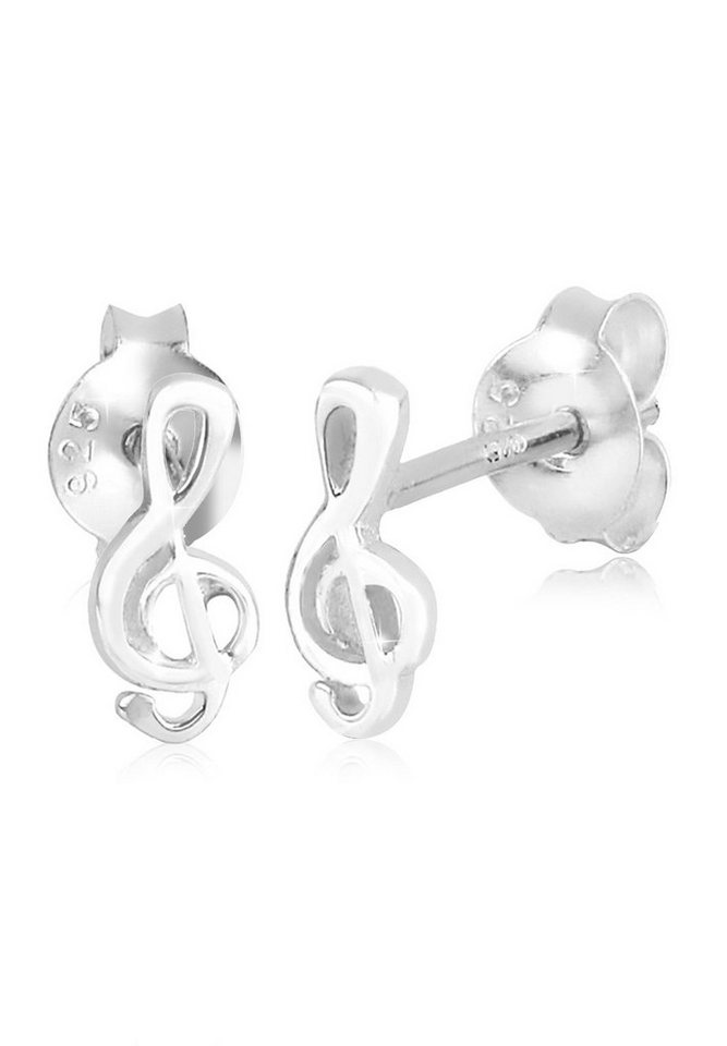 Elli Ohrringe »Notenschlüssel Musik Melodie Filigran 925 Silber« in Silber