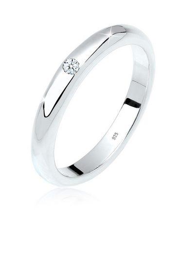 Diamore Ring »Solitär Klassiker Diamant 0.03 ct. 925 Silber«