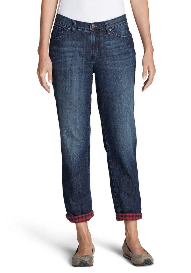 Eddie Bauer Boyfriend Jeans flanellgefüttert in Dark Vintage