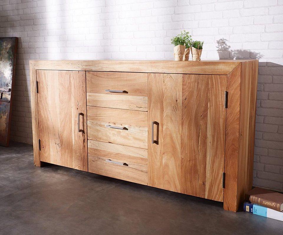 delife kommode amadora altholz natur 180 cm kommode amadora altholz natur 180 cm online kaufen. Black Bedroom Furniture Sets. Home Design Ideas
