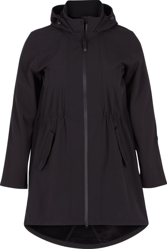 Zizzi Jacke in Black Solid