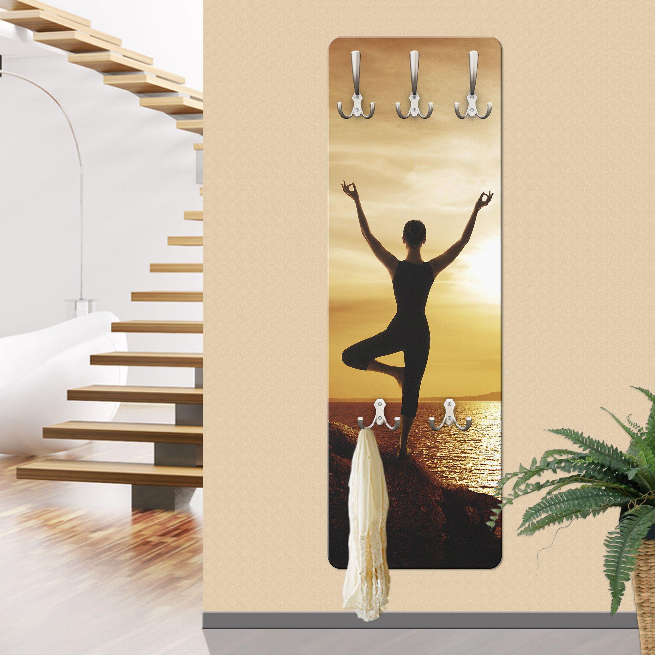Bilderwelten Wandgarderobe »Yoga«