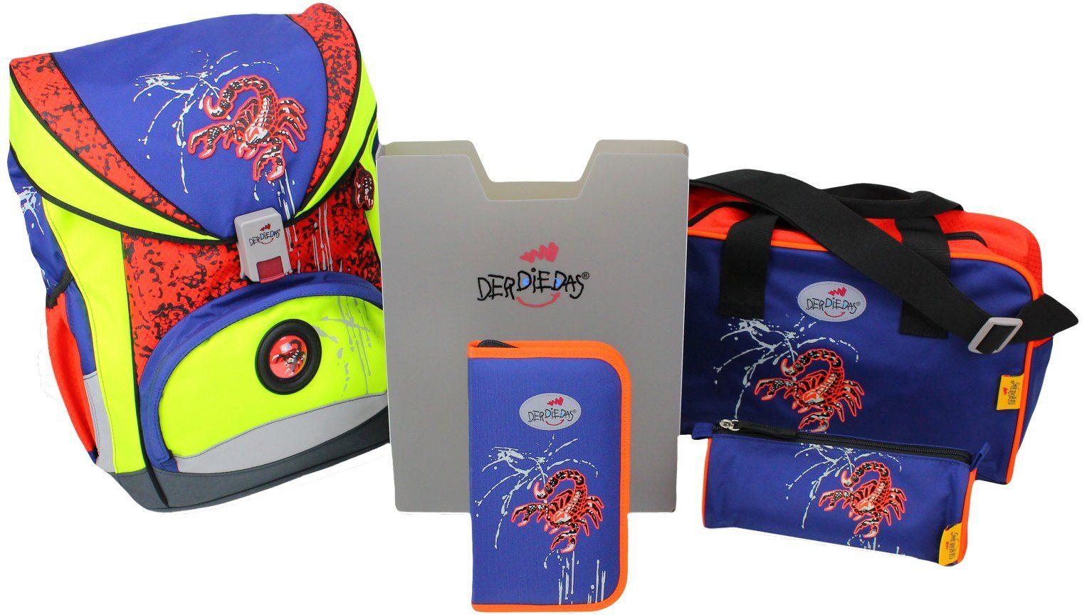 Der Die Das Schulrucksack Set (5tlg.), »ErgoFlex Exclusiv, Safety, Scorpion«
