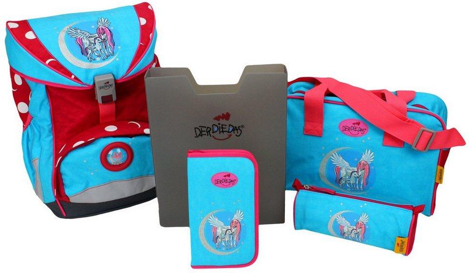Geschicktes Design wie kauft man am besten einkaufen DerDieDas® Schulrucksack »Ergoflex, Lovely Moon« (Set, 5) online kaufen |  OTTO