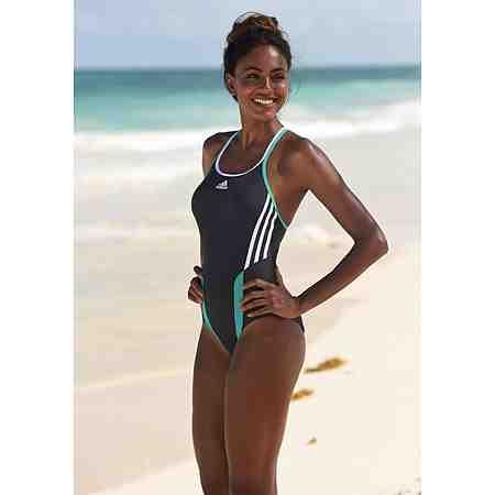 adidas Performance Badeanzug mit hohem Beinausschnitt