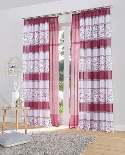 Gardine »Napala«, my home, Kräuselband (2 Stück), Vorhang, Fertiggardine, transparent