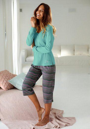 PETITE FLEUR Schlafhose »Josi« mit geradem Bein