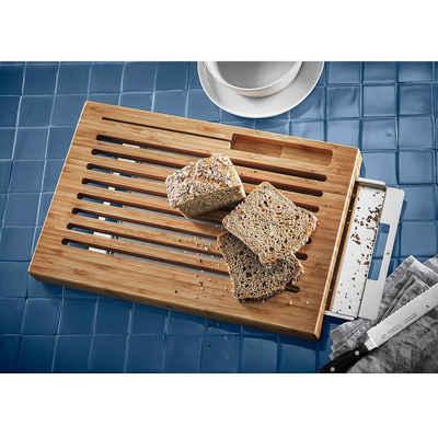 WMF Brotschneidebrett »Bambus Brotschneidebrett mit Auffangschale, B42,5«