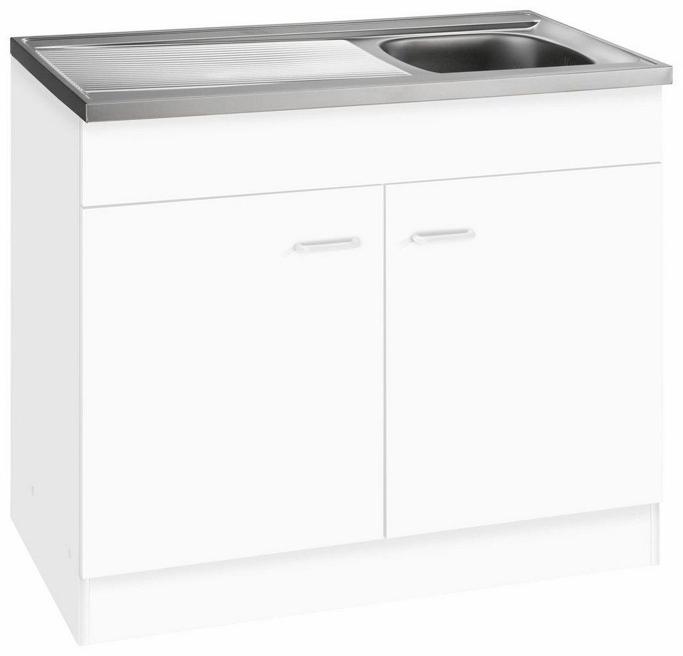 Spülenschrank »Elster«, in 2 Tiefen in Weiß