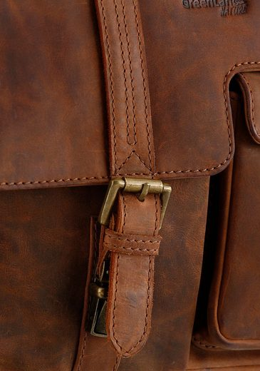 Greenland Nature Shoulder Bag With Buckle Closure