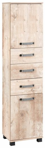 Schildmeyer Hochschrank »Milan« Breite 40,5 cm, mit 2 Türen, 3 Schubladen & Metallgriffen