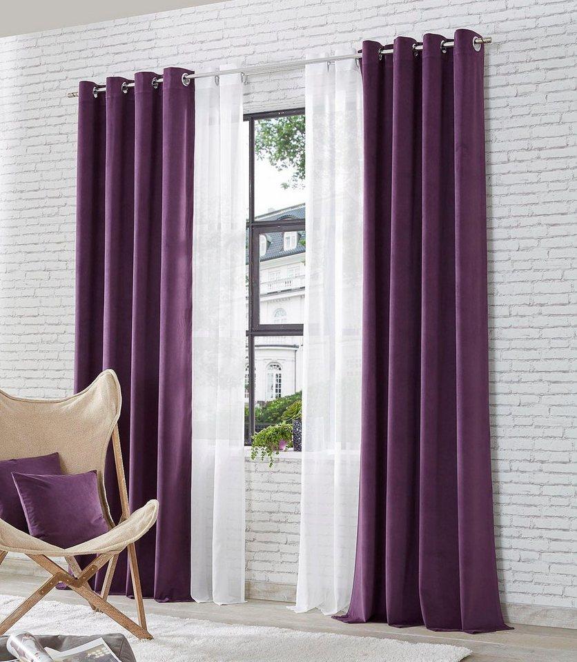 Vorhang »Dallas«, my home Selection, Ösen (2 Stück) online kaufen | OTTO