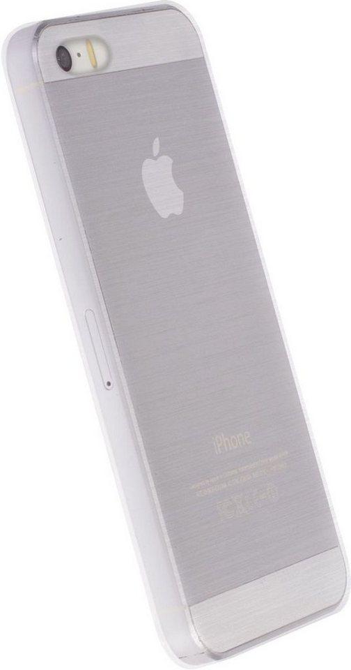 Krusell Handytasche »HardCover Boden für Apple iPhone SE« in Weiß-Transparent
