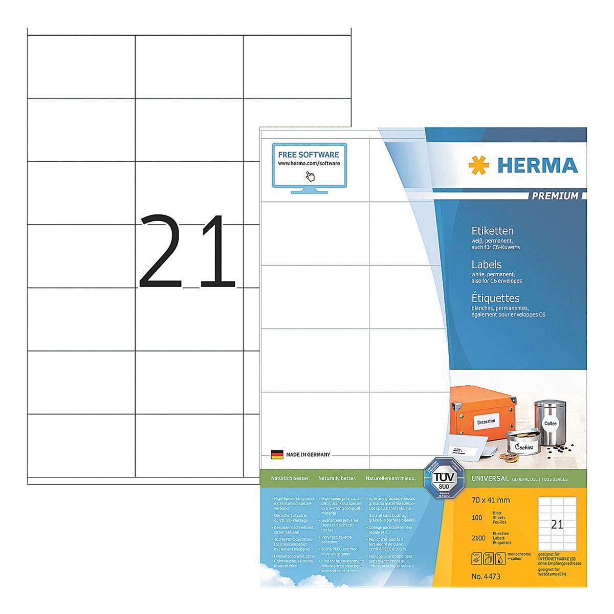 HERMA 2100er-Set Universal-Klebeetiketten »4473«