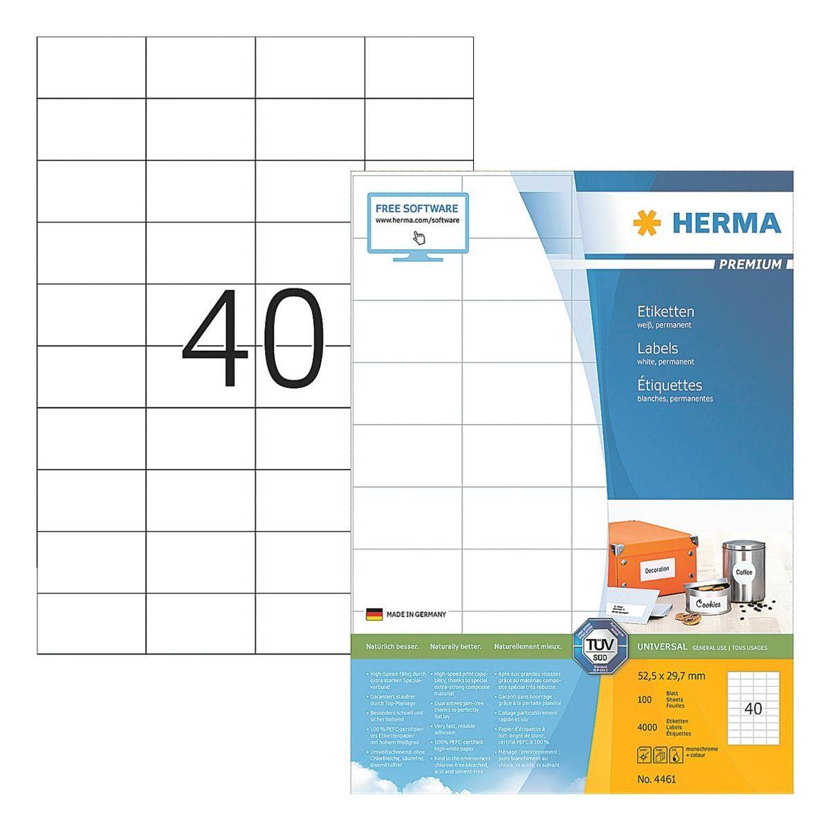 HERMA 4000er-Set Universal-Klebeetiketten »4461«