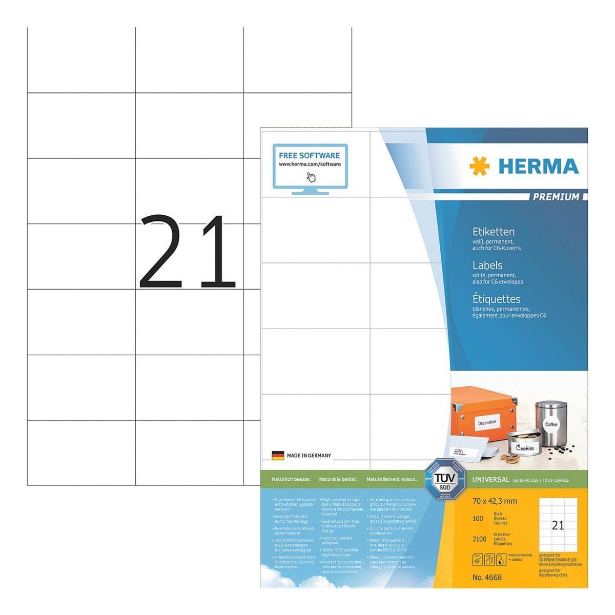 Herma 2100er-Set Universal-Klebeetiketten »4668«