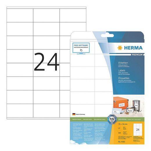 HERMA 600er-Pack Universal-Klebeetiketten »4360«