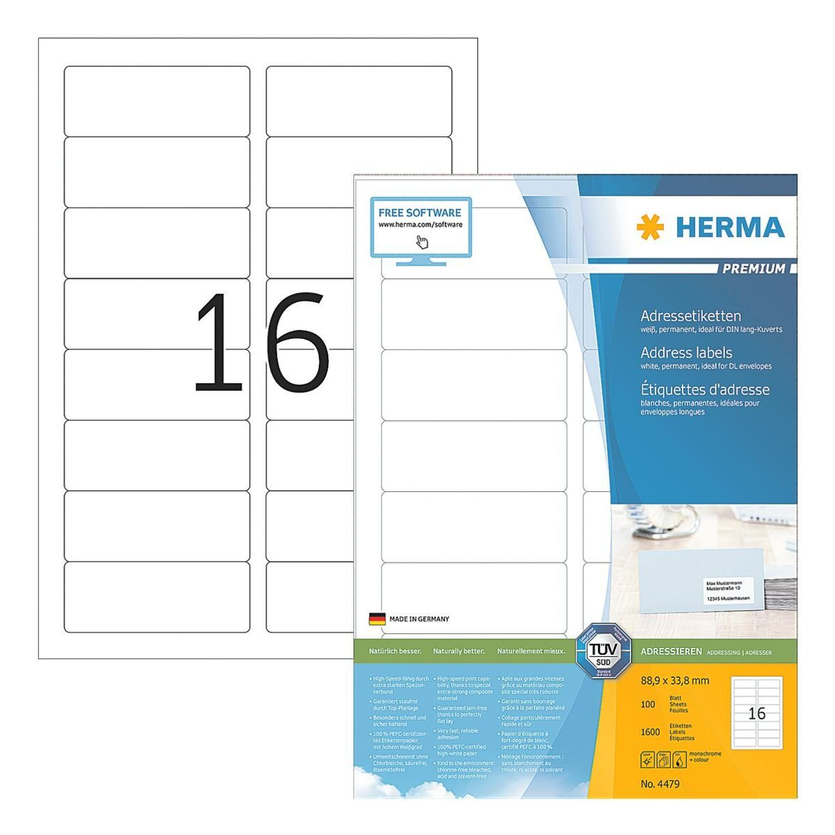 HERMA 1600er-Set Universal-Klebeetiketten »4479«