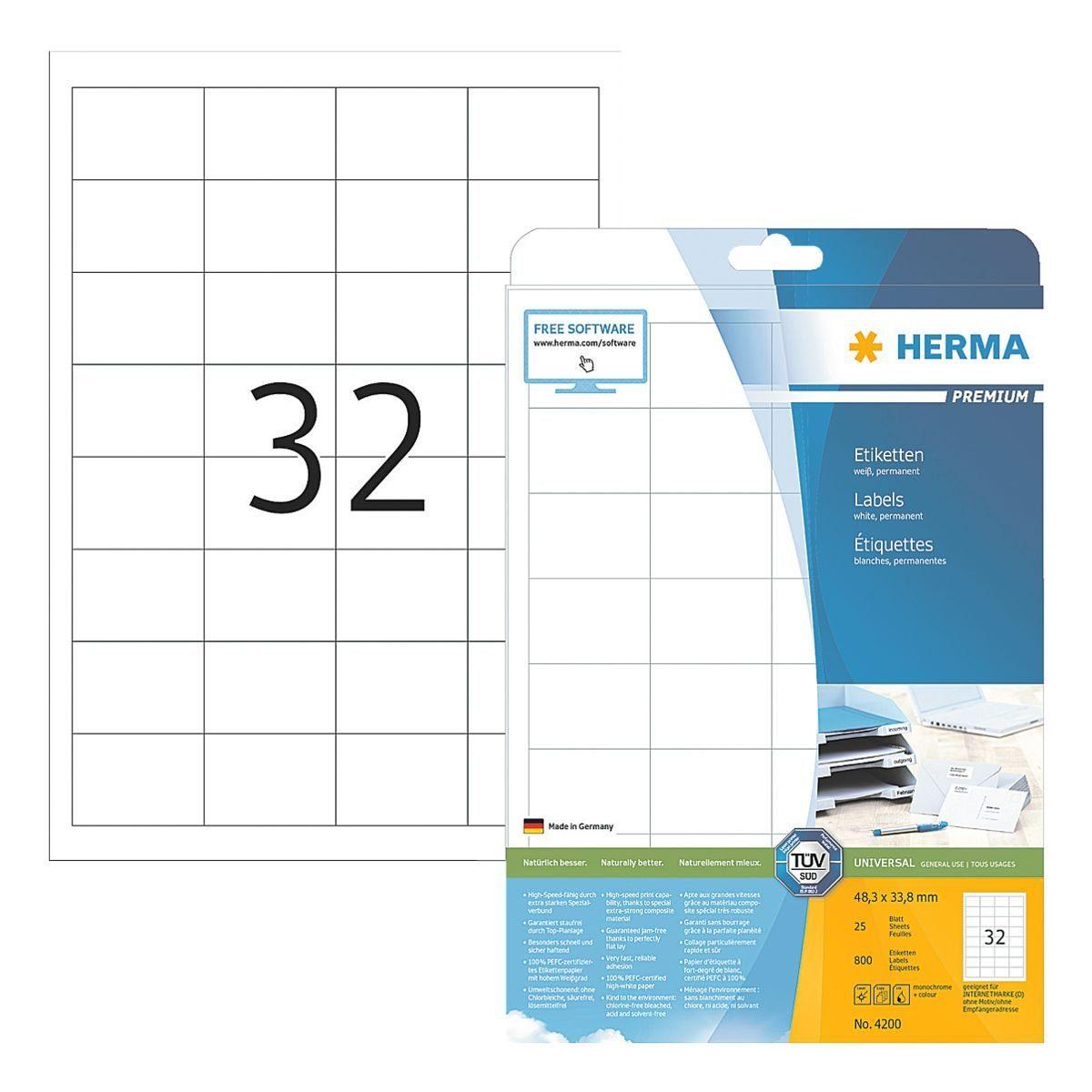 HERMA 800er-Pack Universal-Klebeetiketten »4200«