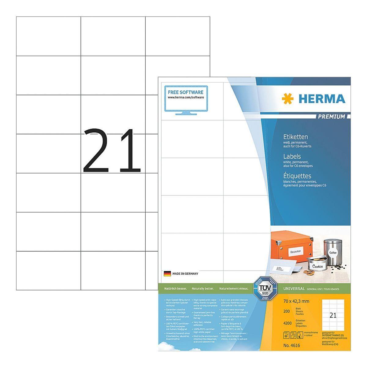 HERMA 4200er-Set Universal-Klebeetiketten »4616«