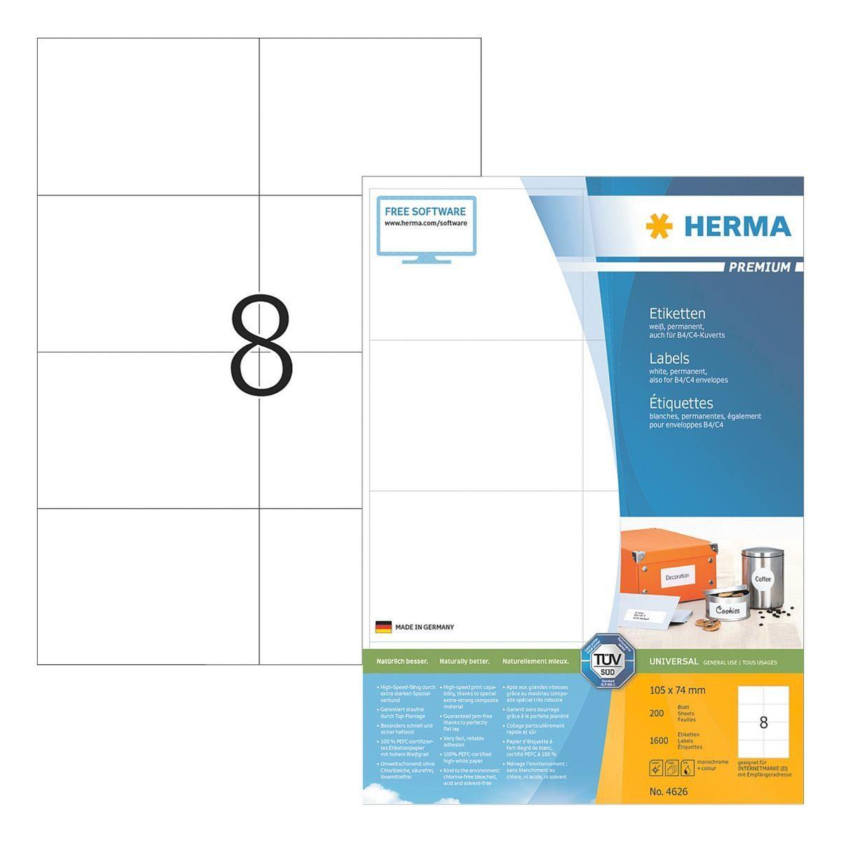 Herma 1600er-Set Universal-Klebeetiketten »4626«