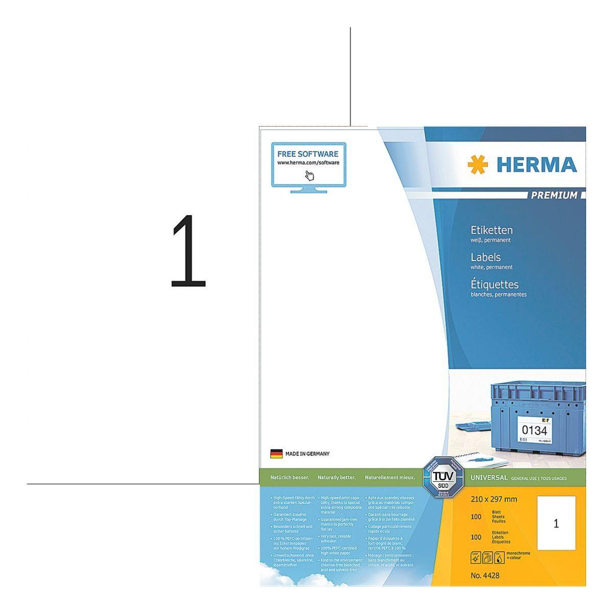 HERMA 100er-Pack Universal-Klebeetiketten »4428«