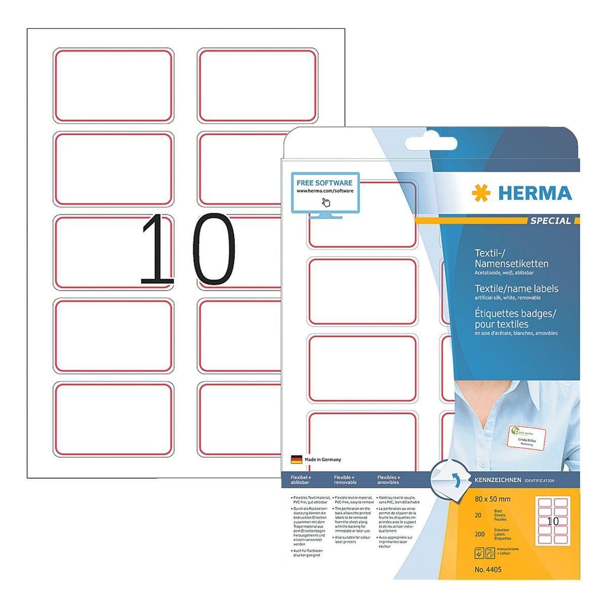 Herma 200er-Pack Namens-/Textiletiketten »4405«