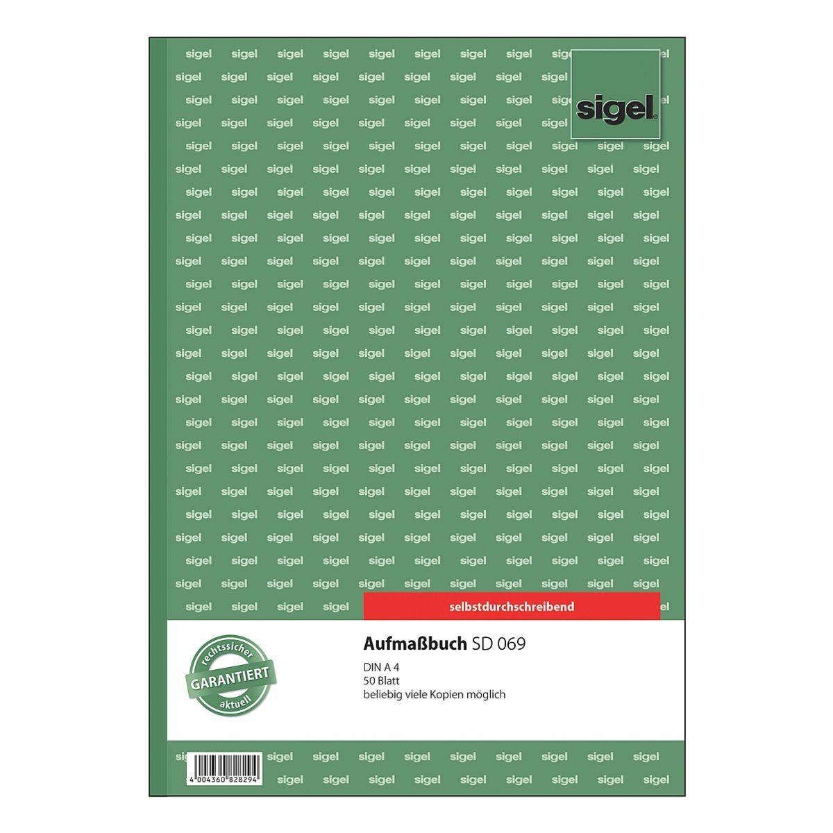 Sigel Aufmaßbuch »SD069«