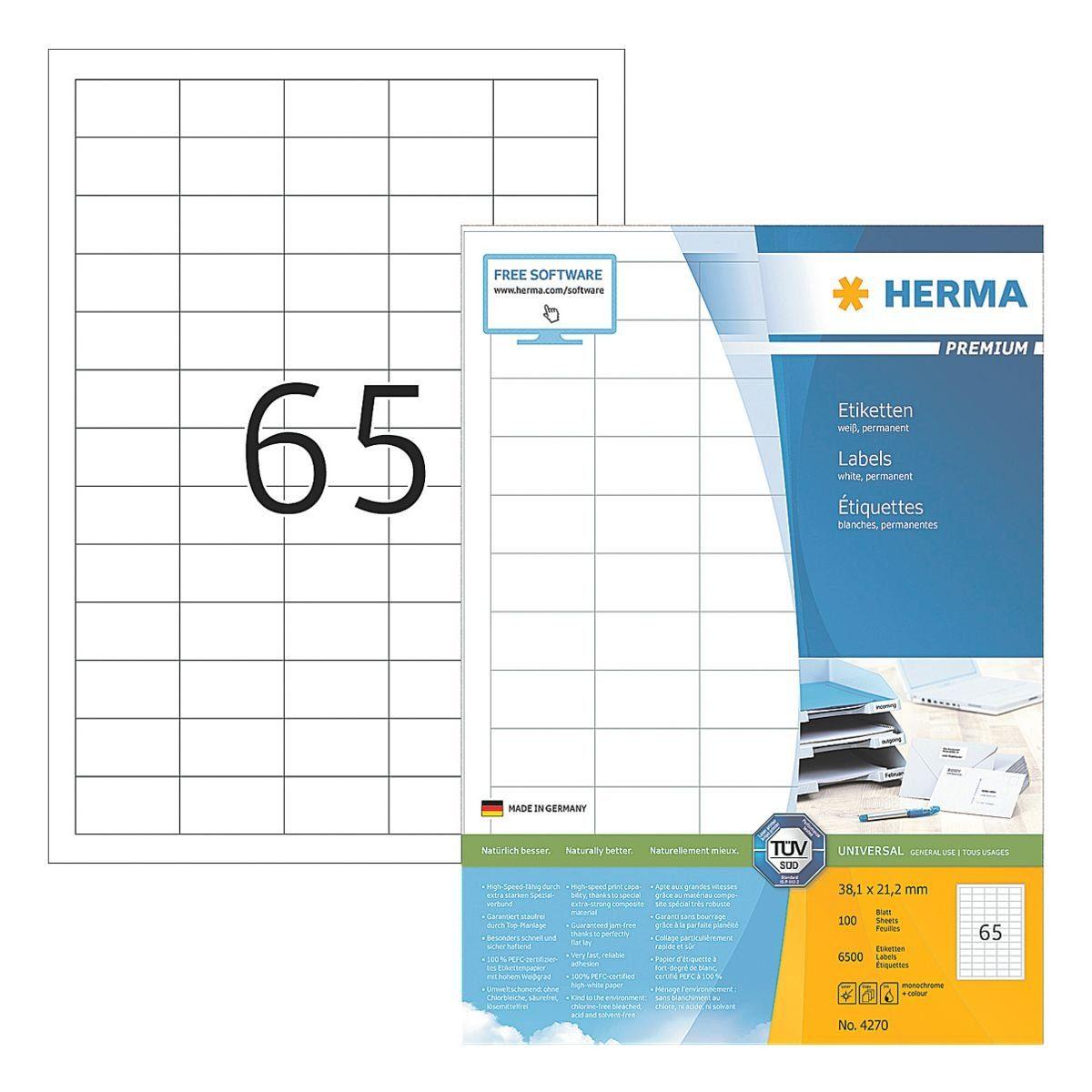 Herma 6500er-Pack Universal-Klebeetiketten »4270«