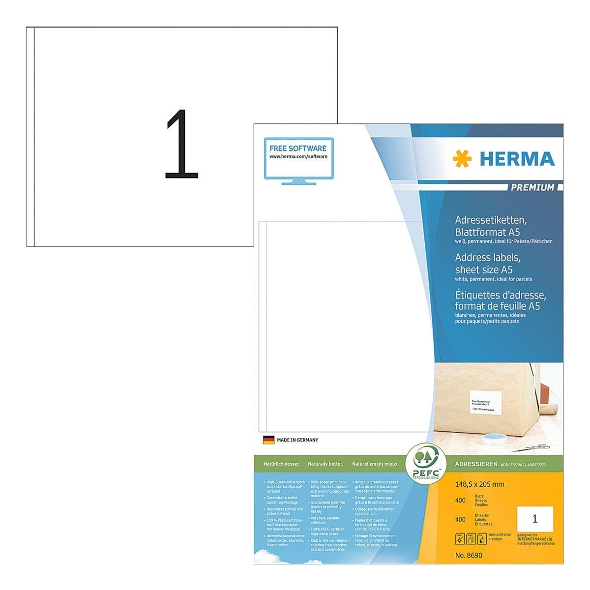 HERMA 400er-Set Universal-Klebeetiketten »8690«