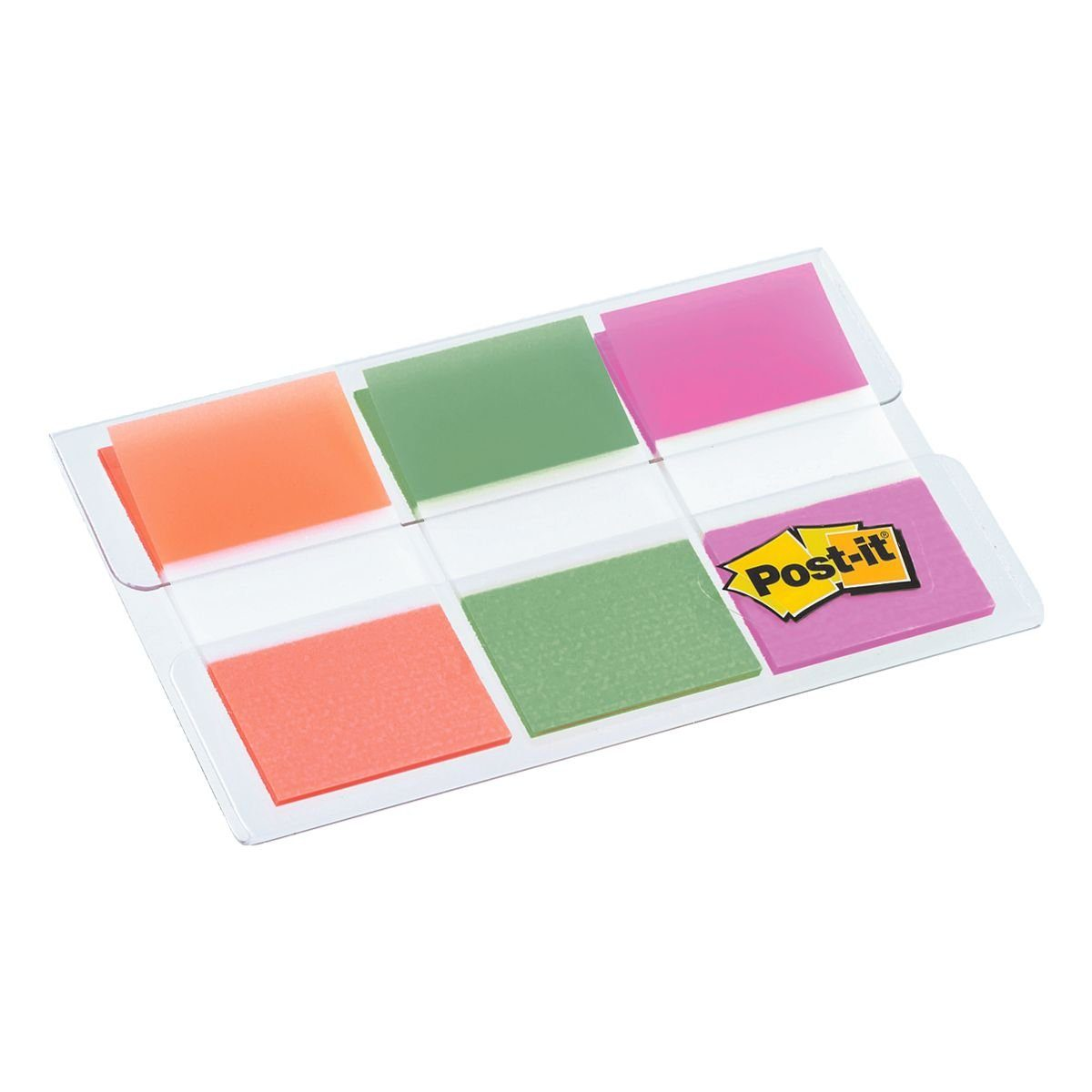 Post-it Index Haftstreifen-Etui 43,2 x 25,4 mm, grün/orange/rosa »Index«