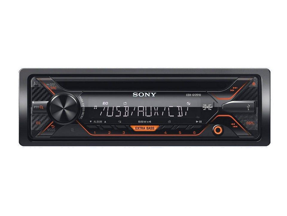 Sony 1-DIN CD-Receiver mit USB »CDX-G1201U« in schwarz