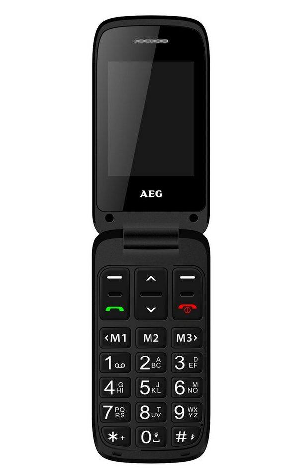 AEG Senioren Klapp-Handy mit Notruffunktion »SM420« in schwarz