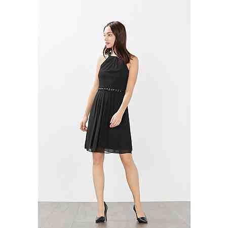 ESPRIT COLLECTION Edles Chiffon-Kleid mit Schmucksteinen