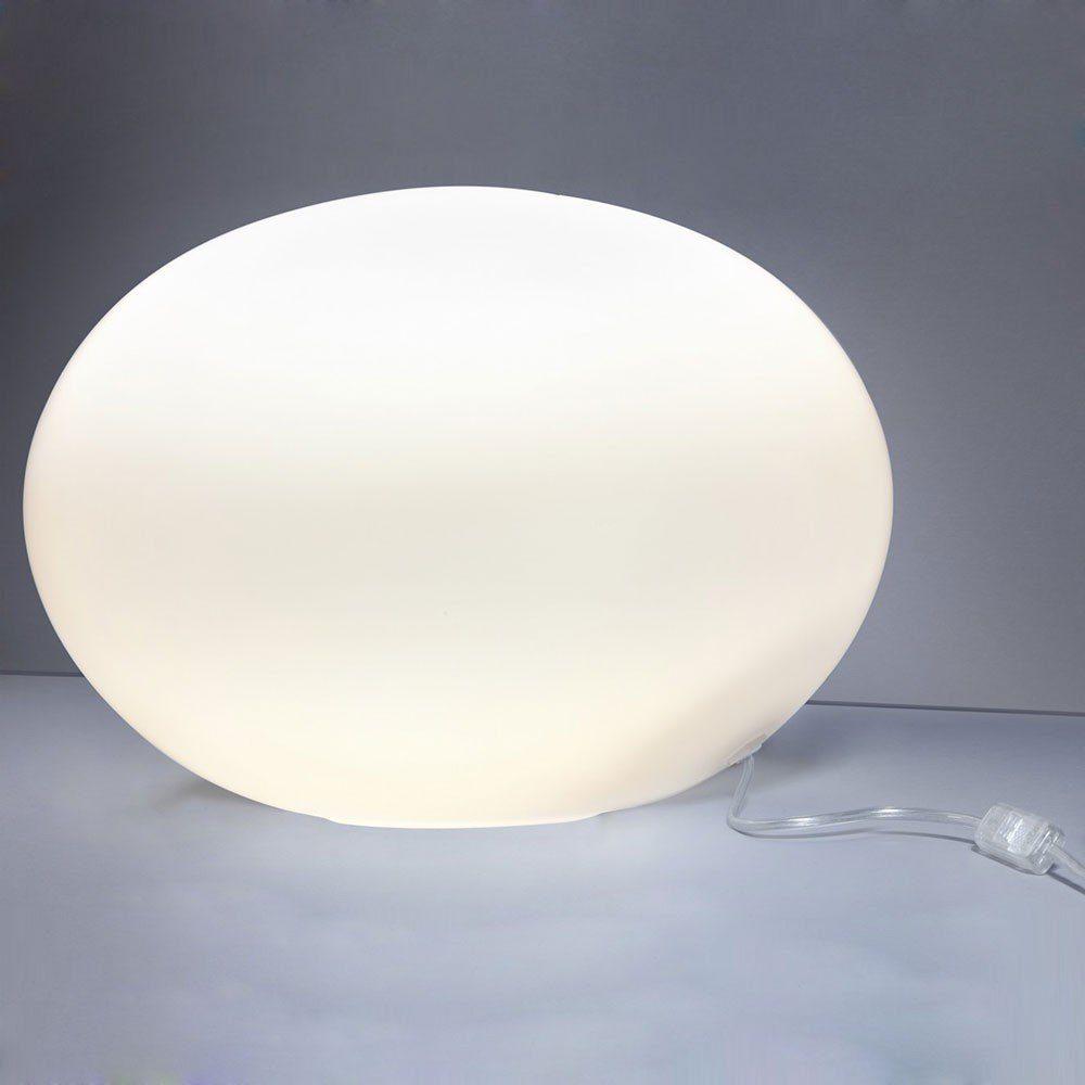 s.LUCE Tischleuchte »Sitter L Glas Ø 40cm Weiss«