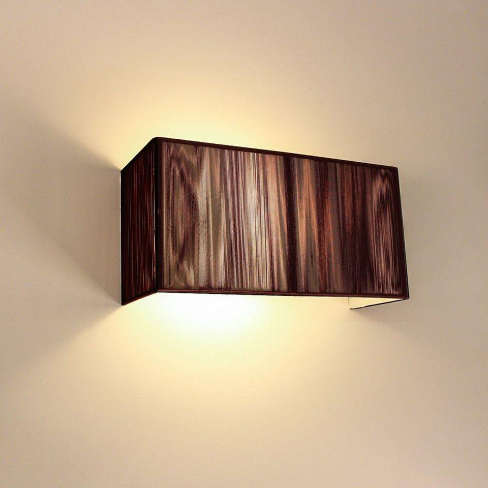 s luce wandleuchte twine stoff 30 cm braun otto. Black Bedroom Furniture Sets. Home Design Ideas
