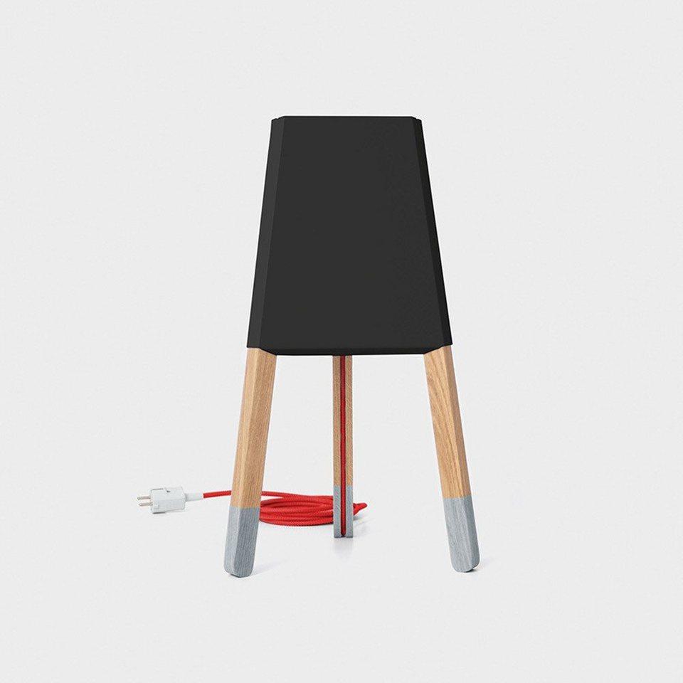 licht trend tischleuchte la3b 50 tischleuchte mit holzfu aus eiche online kaufen otto. Black Bedroom Furniture Sets. Home Design Ideas