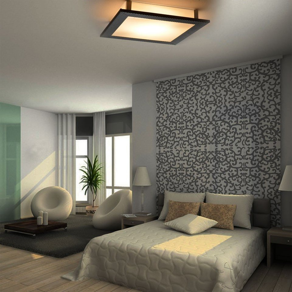 s luce deckenleuchte carbon auriga 30 x 30 cm otto. Black Bedroom Furniture Sets. Home Design Ideas