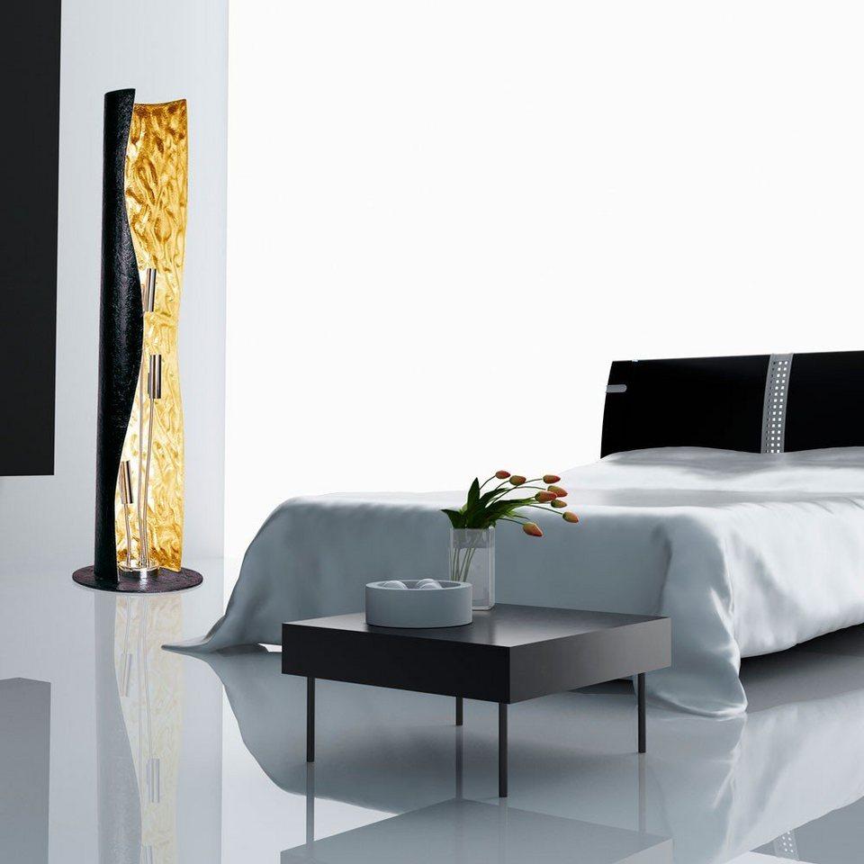 s luce stehleuchte blister 3 flammig 130 cm schwarz goldfarben online kaufen otto. Black Bedroom Furniture Sets. Home Design Ideas