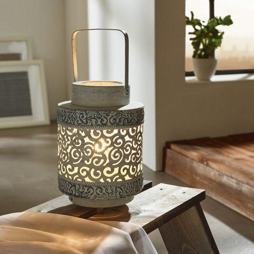 Licht-Trend Tischleuchte »Lantern Vintage- Ø 17cm Grau«