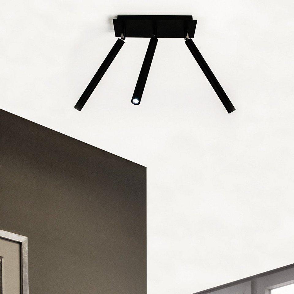 S luce deckenleuchte crutch 3 armig led schwarz otto for Deckenleuchte led schwarz