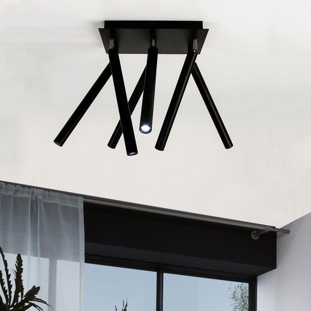 s.LUCE Deckenleuchte »Crutch 6-armig LED Schwarz«