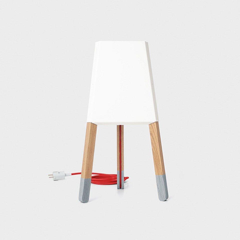 licht trend tischleuchte la3b 50 tischleuchte mit holzfu. Black Bedroom Furniture Sets. Home Design Ideas