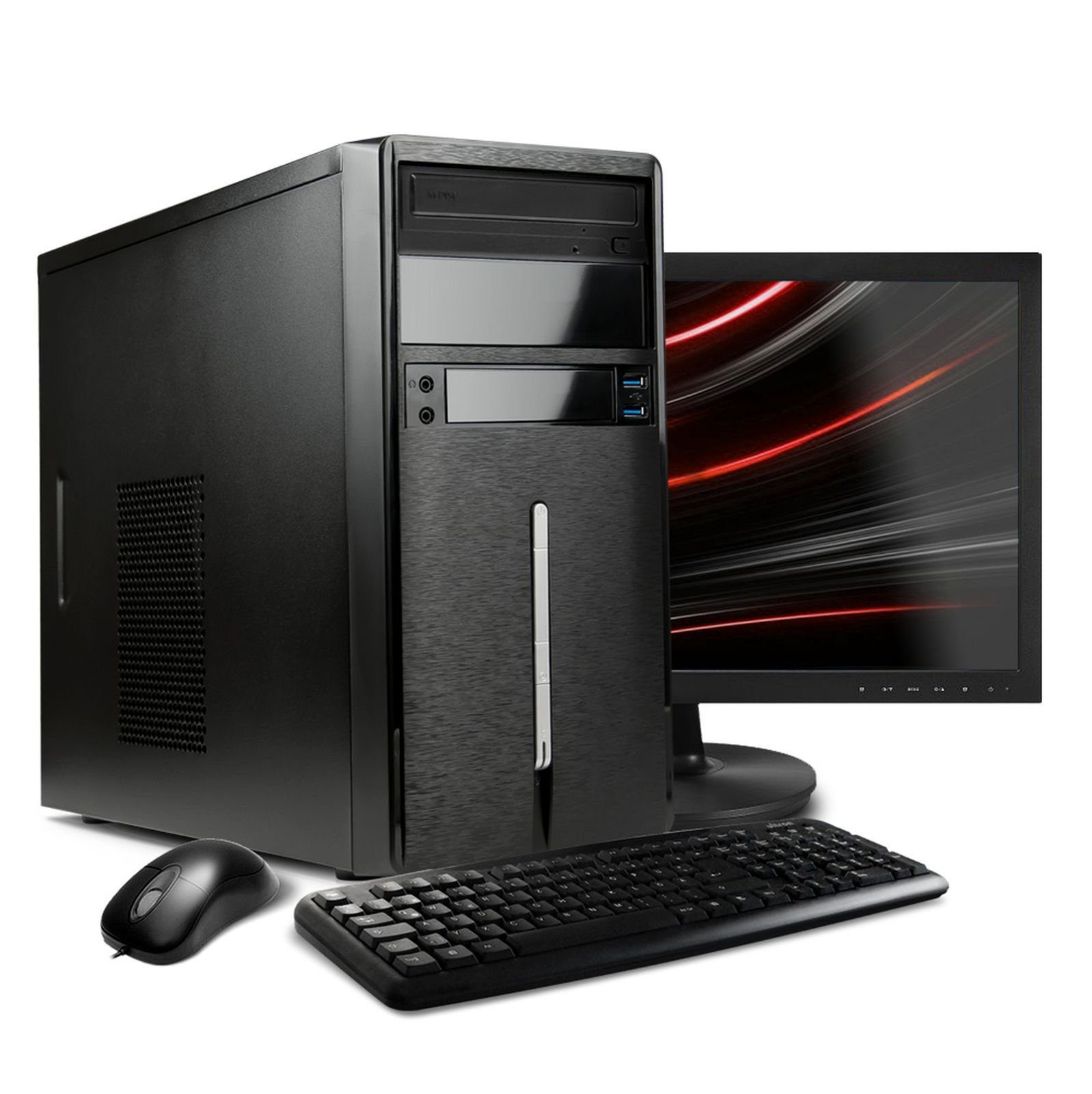 "VCM Multimedia PC Set ""/ Intel Core i3-6100 / »4 GB / Windows 10 / 22"" TFT«"