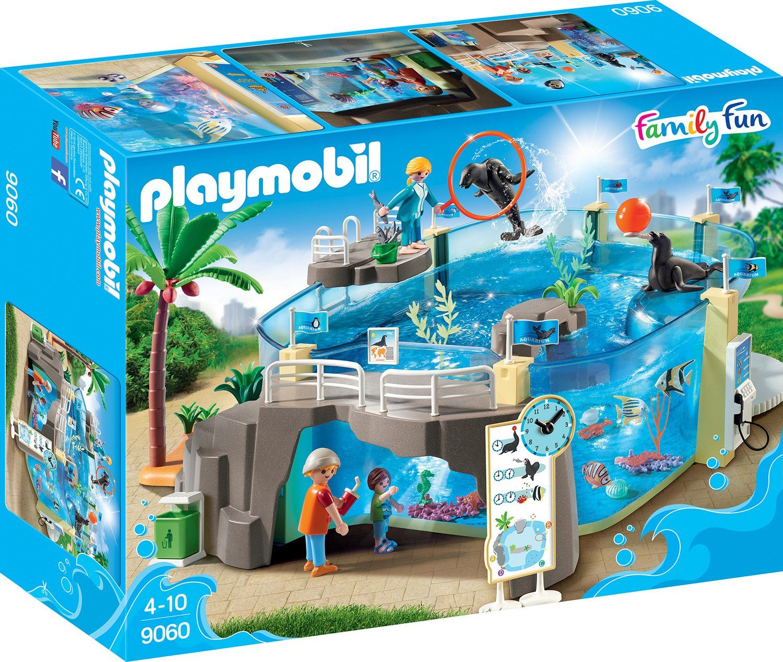 Playmobil® Konstruktionsspielsteine »Meeresaquarium (9060), Family Fun«